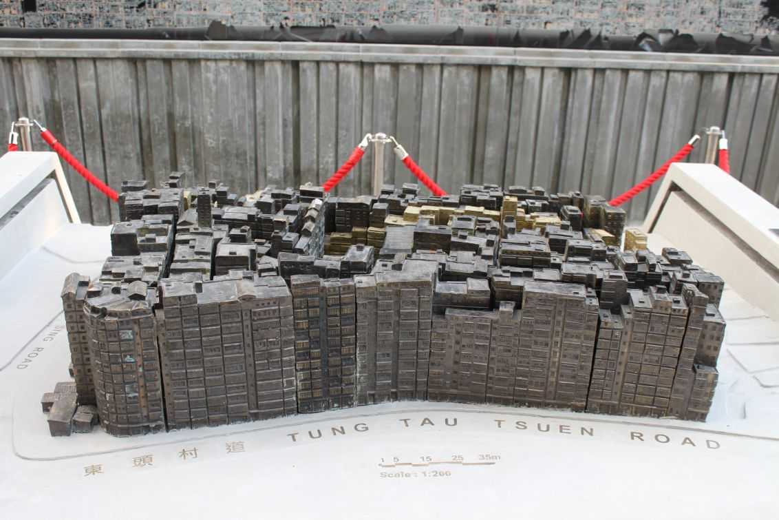 Modell der ehemaligen Kowloon Walled City
